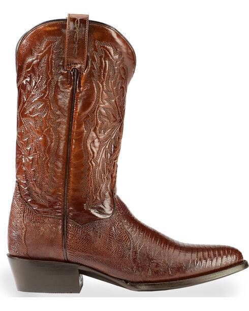 Dan Post Raleigh Lizard Western Boots - Medium Toe, Tan, hi-res