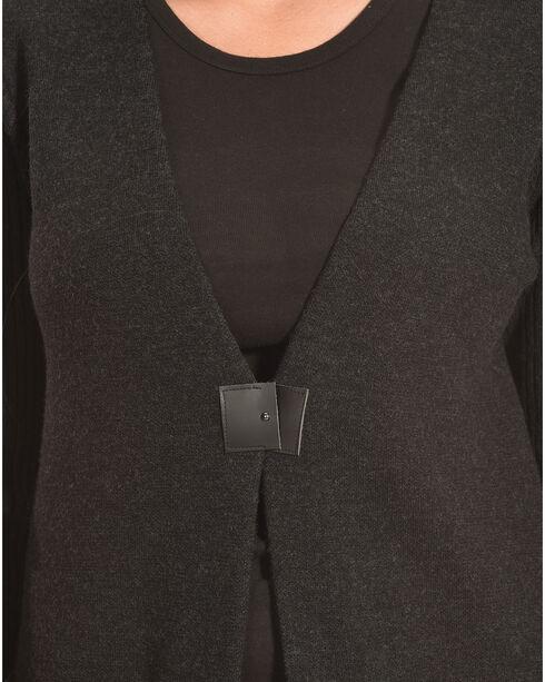 Pendleton Women's Black Ribbed Sleeve Pinyon Cardigan , Black, hi-res
