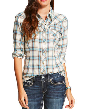 Ariat Women's Multi Randie Long Sleeve Plaid Shirt , Multi, hi-res