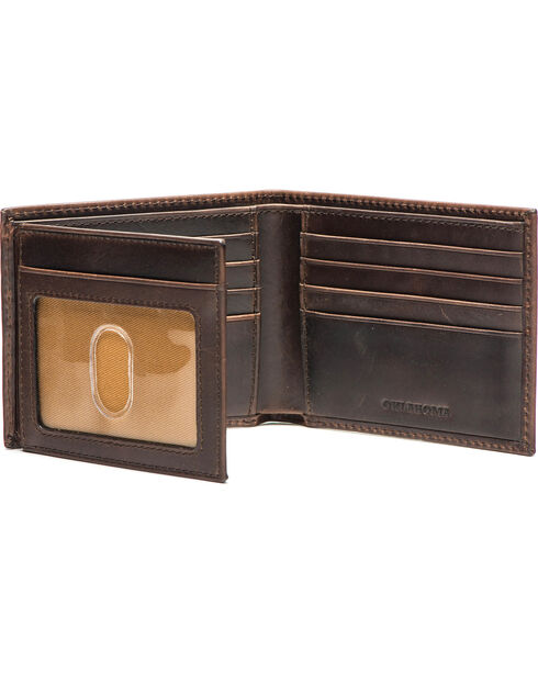 Jack Mason Men's Oklahoma Legacy Traveler Wallet , Brown, hi-res