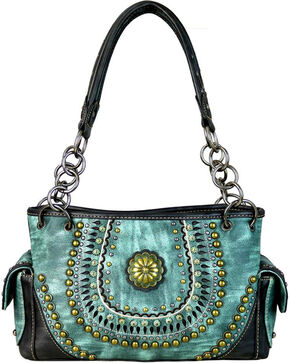 Montana West Women's Turquoise Concealed Carry Satchel , Turquoise, hi-res