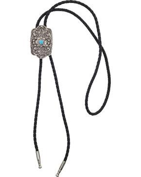 Cody James Men's Floral Design Bolo Tie , Silver, hi-res