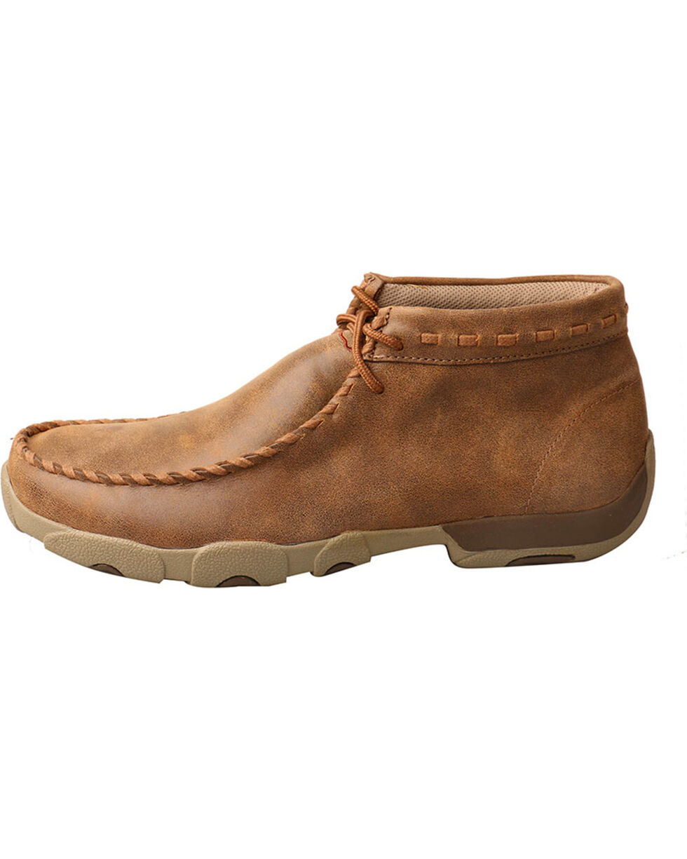 Twisted X Men's Bomber Driving Moccasins - Round Toe , Taupe, hi-res