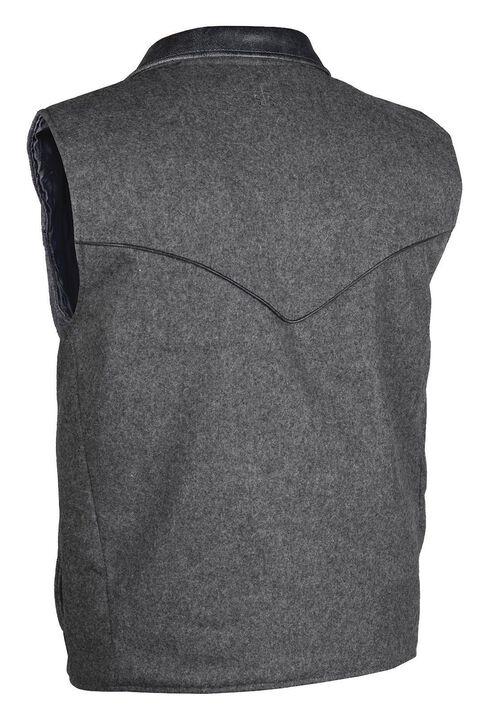 STS Ranchwear Men's Lariat Charcoal Grey Vest - Big & Tall - 2XL-3XL, Charcoal Grey, hi-res