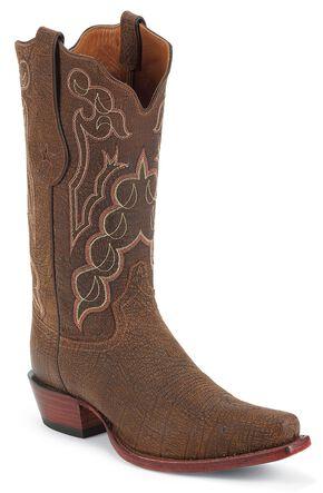 Tony Lama Signature Series Kangaroo Cowboy Boots - Square Toe, Sienna, hi-res