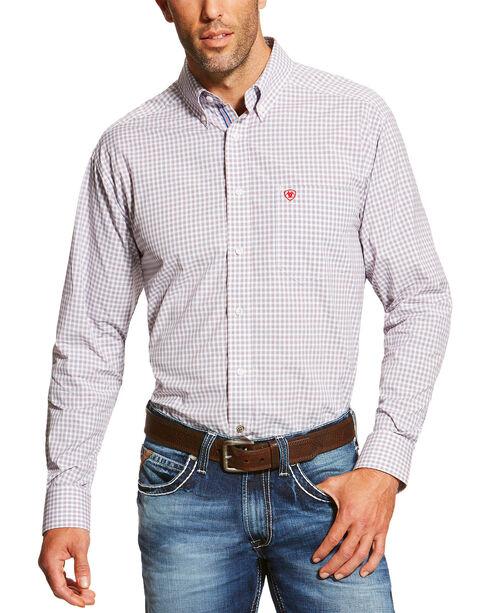 Ariat Men's White Marco Short Sleeve Shirt , White, hi-res