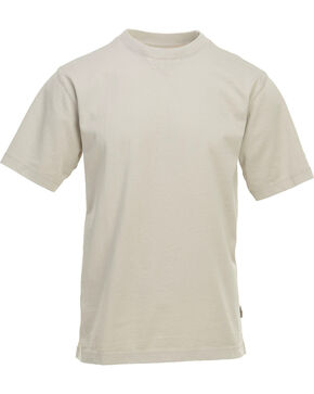 Woolrich Men's First Forks Solid T-Shirt , Sand, hi-res