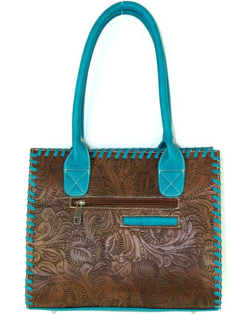 Savana Women's Embossed Western Handbag, Brown, hi-res