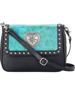 Blazin Roxx Women's Crossbody Ginger Purse , Turquoise, hi-res