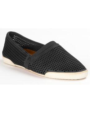 Frye Women's Melanie Perforated Slip On Shoes , Black, hi-res