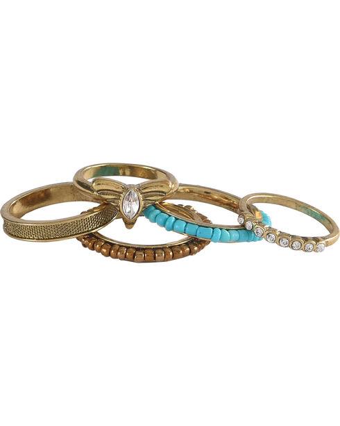 Shyanne Women's Multi Gold Ring Set, Gold, hi-res