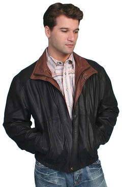 Scully Double Collar Leather Jacket - Tall, , hi-res