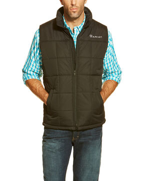 Ariat Men's Black Crius Quilted Vest, Black, hi-res