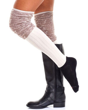 Bootights Women's Marble Trim Boot Socks, Multi, hi-res