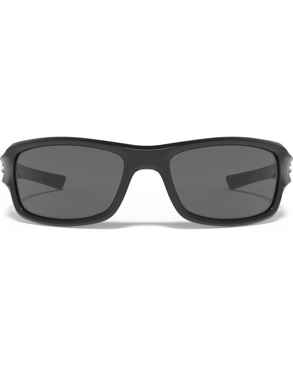 Under Armour Men's UA Edge Shiny Black Sunglasses , Black, hi-res