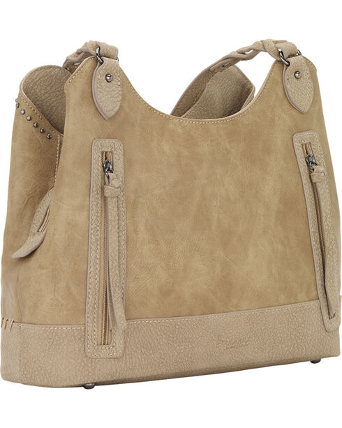 Bandana by American West Women's Guns and Roses Three Compartment Tote, Sand, hi-res