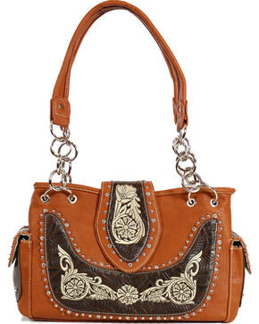 Savana Women's Embroidered Handbag , Multi, hi-res