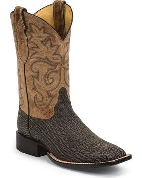 Justin Men's AQHA Remuda Shark Cowboy Boots - Square Toe, Beige, hi-res