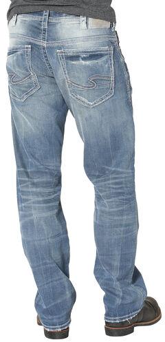 Silver Men's Gordie Loose Fit Straight Leg Jeans, , hi-res