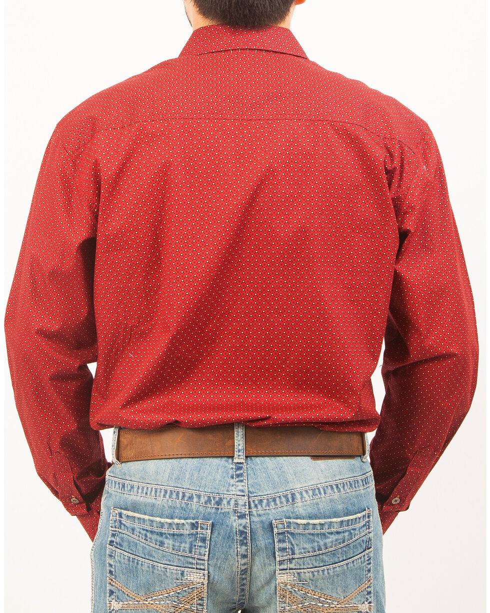 Cinch Men's Patterned Long Sleeve Shirt , Red, hi-res