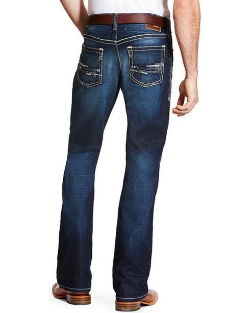 Ariat Men's M4 Adkins Turnout Boot Cut Jeans, Blue, hi-res