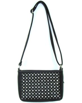 Savana Women's Professional Carry Embellished Crossbody Purse , Black, hi-res