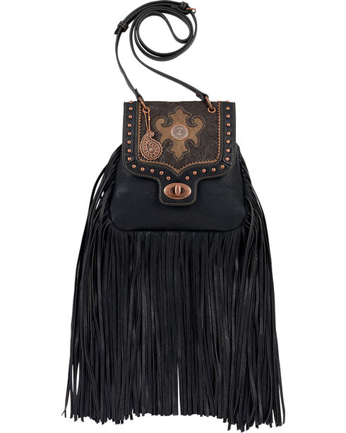 Bandana by American West Winslow Collection Fringe Crossbody Flap Bag, , hi-res