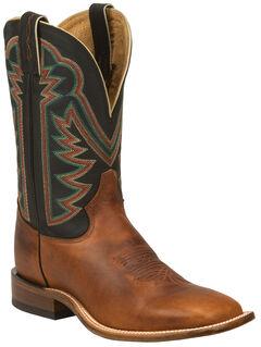 Tony Lama Tan Faded Ranch Cowboy Boots - Square Toe , , hi-res