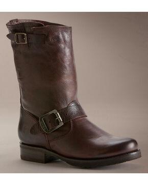 Frye Women's Veronica Shortie Boots - Round Toe, Dark Brown, hi-res