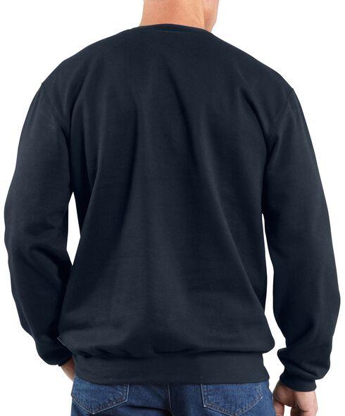 Carhartt Flame Resistant Heavyweight Crewneck Sweatshirt, Navy, hi-res