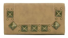 Bandana by American West Houston Honey-Wheat Flap Wallet, Honey, hi-res