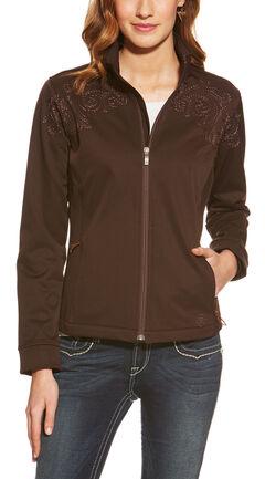 Ariat Women's Livia Softshell Jacket, Brown, hi-res