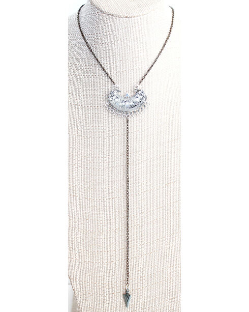 Everlasting Joy Jewelry Women's Wrangler Necklace , Silver, hi-res