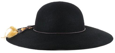 Shyanne Women's Delia Floppy Felt Hat, Black, hi-res