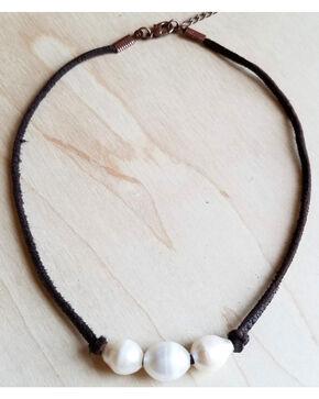 Jewelry Junkie Women's Triple Freshwater Pearl Choker Necklace , White, hi-res
