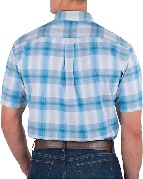 Noble Outfitters Men's Generations Fit Plaid Short Sleeve Shirt, Blue, hi-res
