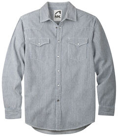 Mountain Khakis Grey Original Mountain Denim Shirt, Grey, hi-res