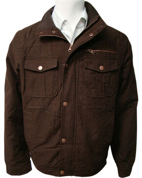 Victory Rugged Wear Men's Brown Cotton Twill Sherpa Lined Jacket, Brown, hi-res