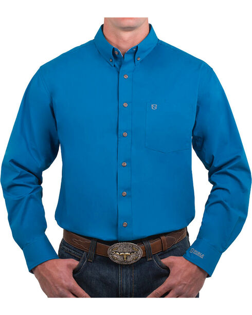 Nobel Outfitters Men's Solid Button Down Long Sleeve Shirt, Blue, hi-res