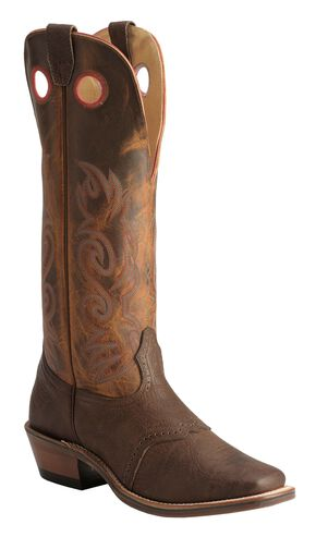 Boulet Saddle Buckaroo Boots - Square Toe, Chestnut, hi-res