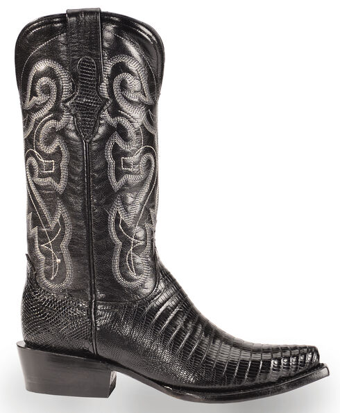 Ferrini Black Lizard Cowgirl Boots - Snip Toe, Black, hi-res