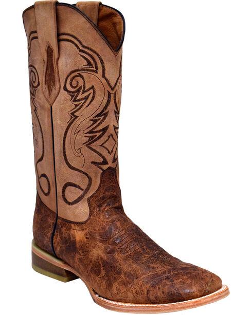Ferrini Men's Comanchero Western Boots - Square Toe , Brown, hi-res