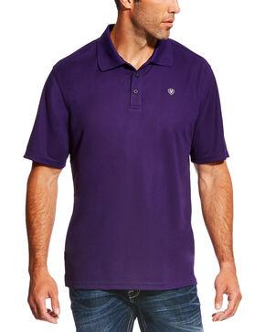 Ariat Men's TEK Short Sleeve Polo - Big & Tall , Purple, hi-res
