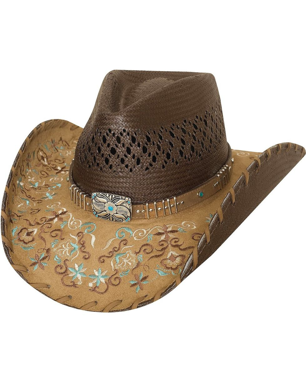 Bullhide Never Give Up Shantung Straw Cowgirl Hat, Brown, hi-res