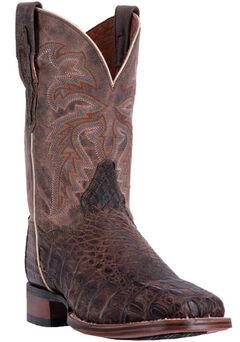 Dan Post Men's Brown Denver Cowboy Boots - Broad Square Toe, , hi-res