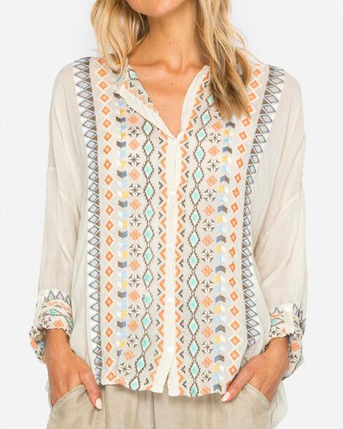Johnny Was Women's Cream Cenote Button-Down Shirt , Cream, hi-res