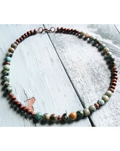 Jewelry Junkie Women's African Turquoise Choker , Green, hi-res