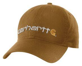 Carhartt Oakhaven Canvas Logo Cap, Brown, hi-res