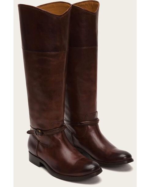 Frye Women's Brown Melissa Seam Tall Boots  , Brown, hi-res