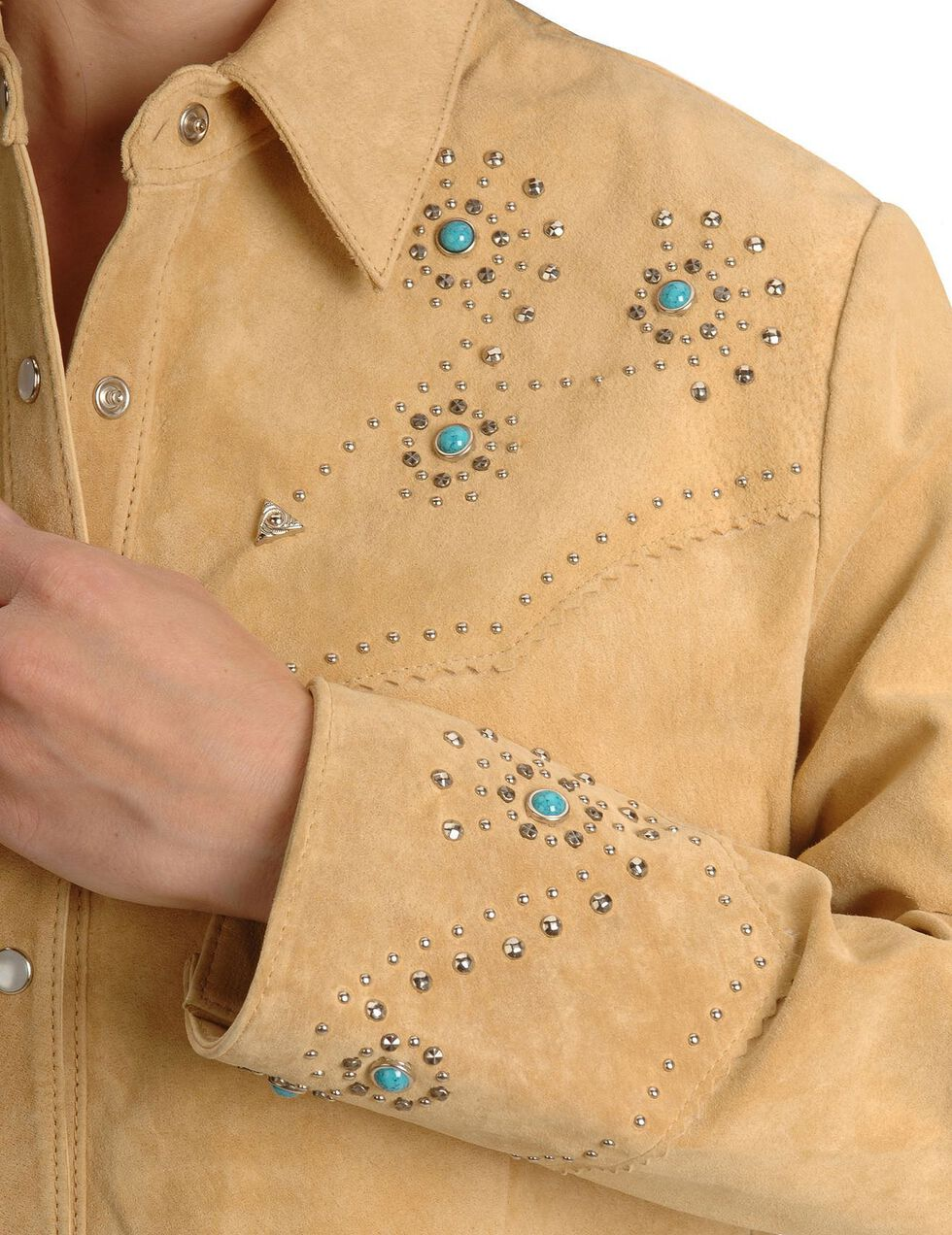 Scully Studded Leather Jacket, Tan, hi-res